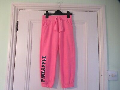 5-6 yrs: PINEAPPLE pink joggers: Sequinned logo: Good condition: Combine postage