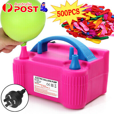 Air Balloon Pump 2Nozzle Electric Automatic Portable 600W Inflator +500X Balloon