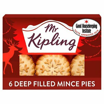 Mr Kipling Deep Filled Mince Pies 6 Pies in a Box Traditional Christmas Treat