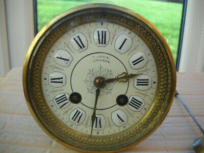 French Mantel Clock Movement By Japy Freres Cie In G.w.o.