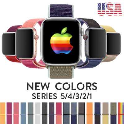 Woven Nylon Band For Apple Watch Sports Loop iWatch Series 38/42/40/44mm/4/3/2/1