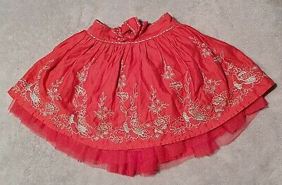M&S Baby Girls Lined Christmas Skirt 12-18 Months