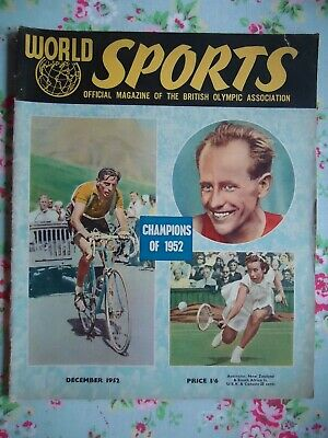 World Sports Magazine December 1952 Champions of 1952 Cover