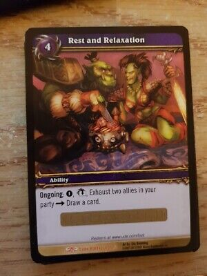 Rest and Relaxation - Loot Card - UNUSED - World of Warcraft - WOW - Dark Portal