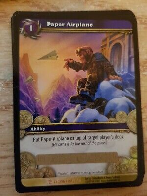 Paper Airplane - Loot Card - UNUSED - World of Warcraft - WOW - Legion