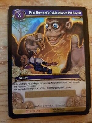 Papa Hummel's Old-Fashioned Pet Biscuit - Loot Card - UNUSED - World of Warcraft
