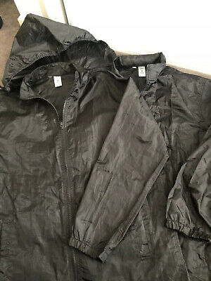 2 X Black Size 16 Rain Jackets Ideal For School