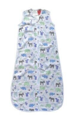Plum Cotton Muslin Sleeping Bag 0.5 Tog Gentle Jungle 24-36 Months
