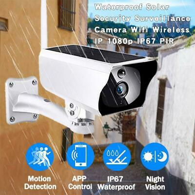 1080P HD Camera WiFi Low Power Solar Wireless Security Surveillance IP66 Outdoor