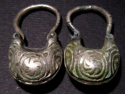 Gorgeous, Museum Quality Byzantine Silver Pair Of Earrings - Top Decoration+++