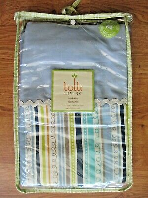 Lolli Living Baby Bot Multi Stripe Crib Bed Skirt