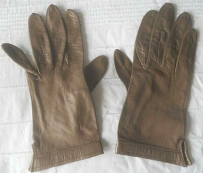 Pr Vintage 60S Super Soft Supple Chocolate Brown Leather Gloves W Germany 7