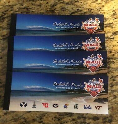 2019 Maui Invitational Basketball Tournament UCLA General Admission Booster Pack
