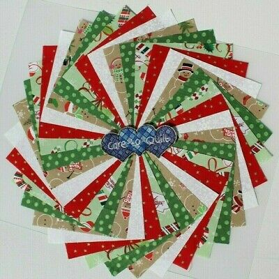 Christmas Charm pack 5 inch Quilting squares 100% Cotton