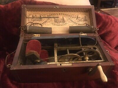 1854 Davis & Kidder Patent Magneto Electric Machine  Quack Medicine