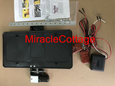 Camaro /& Impala Powered Electric Retractable License Plate Frame /& Key Fobs