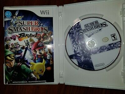 Super Smash Bros Brawl Nintendo Wii Game Manual Complete Tested Brothers Mario