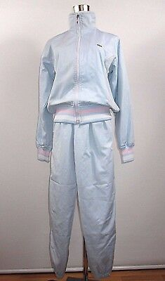 Women's Girl LACOSTE Sport Vintage Full Tracksuit Blue Rare 11-13 yrs girls BD26