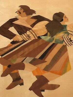 Beautiful Wooden Wall Plaque Multi Colour Abstract Depiction of Russian Cossacks