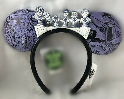 Disney Parks Glow In The Dark Haunted Mansion Headband Mickey Ears New