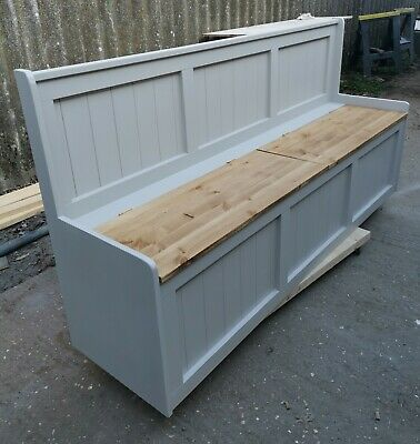 New Handmade Solid Pine 5ft Monks Benches Farrow and Ball color choice Delivery