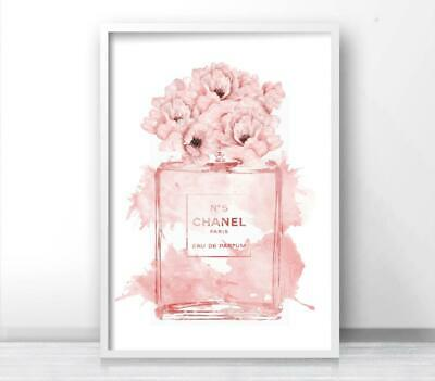 Inspired by Watercolour Floral Perfume Fashion Art Print. A3 A2 A1 Sizes