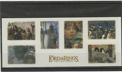 New Zealand 2002 Lord Of The Rings 2Nd Series Block Of 6 Adhesives Um