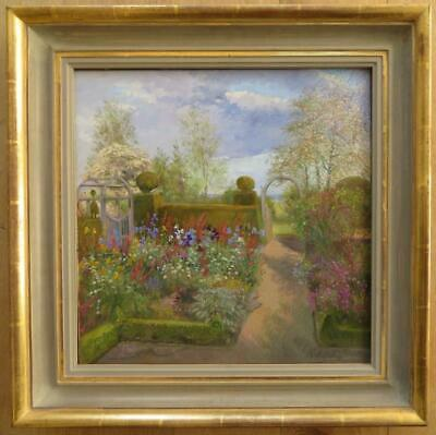 TIMOTHY EASTON (1943-) Impressionist Original Oil Painting BEDFIELD HALL FLORAL