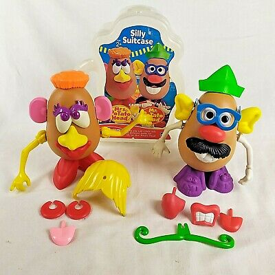 Playskool Mr & Mrs POTATO HEAD  Silly Suitcase CARRY CASE extras Toy Story