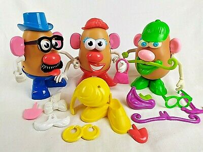 Playskool Mr & Mrs POTATO HEAD and Friend Mr Green bundle of extras Toy Story