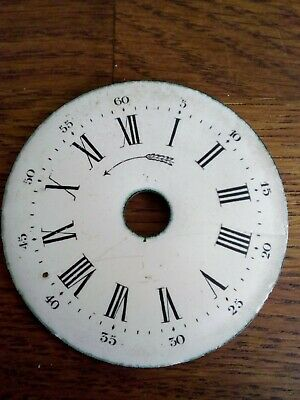 Antique French Enamel Pocket Watch /Clock Dial (White)5.7cm