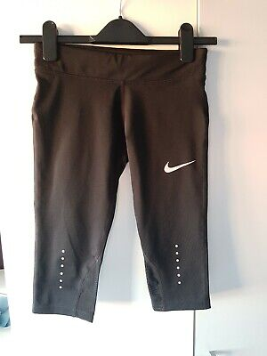 Girls Nike Dry Fit 3/4 Length Leggings Size S ---   8-10 years
