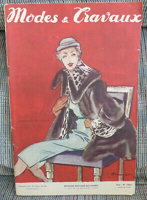 Modes et Travaux Magazine Sept. 1951 Creation Revillon  In French Fashion Sewing