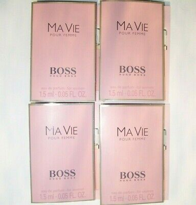HUGO BOSS MA VIE EAU DE PARFUM 4 x 1.5ml EDP SAMPLE VIALS NEW