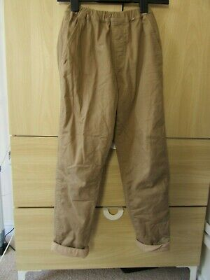 Uniqlo KIDS WARM LINED STRETCH TROUSERS Beige Size 13yrs 160cm