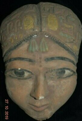 "Sale!! Egyptian Limestone Funerary Mask 7"" Prov"