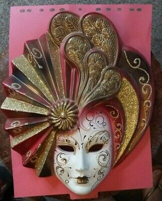 Hand Painted Venetian Wall Mask