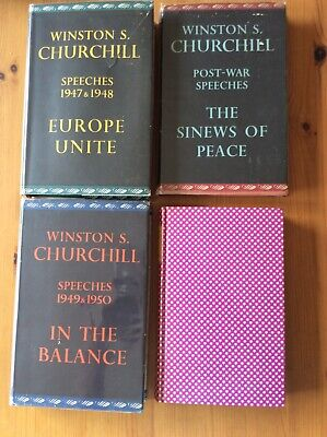 POST WAR SPEECHES. 4 VOLS.  WINSTON S. CHURCHILL. 1st Edition.CASSELL & COMPANY.