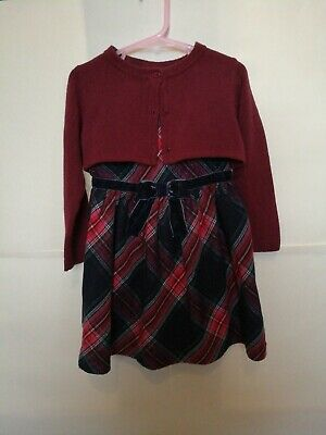 2-3 Year girls H&M Dress And Cardi Outfit Perfect For Christmas