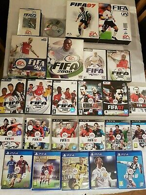 25 x FIFA Bundle, 1995-2019, PS4, PS3, PC, Games, Rare Lot Collection, 19, 18,17
