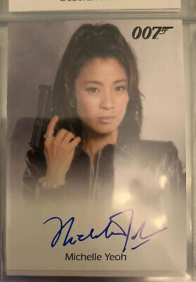 James Bond Archives Autograph Auto Card Michelle Yeoh Signed Star Trek Discovery
