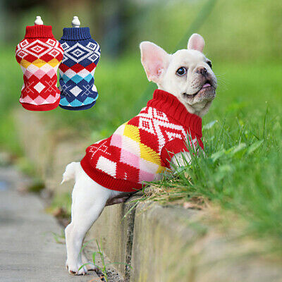 Christmas Dog Sweater for Small Dogs Cats Winter Clothes Warm Knitwear Chihuahua