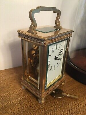 Carraige Clock French 8 Day Fretwork Decoration Time Piece