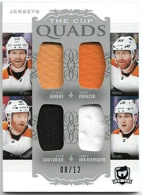 2018-19 The Cup Flyers Quads Jersey Patch Giroux/Voracek/Couturier/Riemsdyk #/12