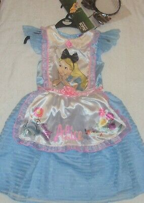 Disney Alice In Wonderland dress costume age 7 - 8  ( New + Tags ) BNWT