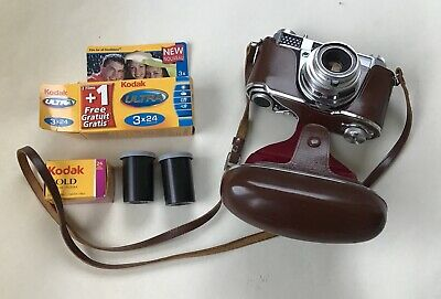 Vintage Kodak Retina III S Camera - Working Order & Cased + Old Film