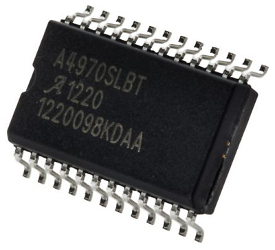 10 x Allegro Microsystems A4970SLBTR-T Stepper Motor Driver IC, 45V 0.75A 24-Pin
