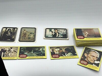 Topps 1977 Star Wars Series 3 Yellow Full Set 66 Cards & 11 Stickers Bubble Gum