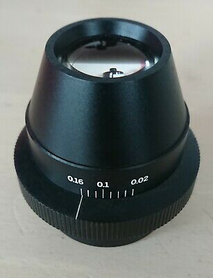 Excellent Olympus Microscope condenser lens. Ultra low 0.16 - 0.02 BH2-DCW.