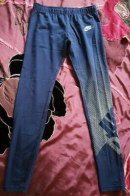 Girls Nike Sport Blue Leggings Large Size Tight Fit Collant New with tags